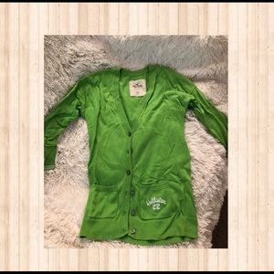 Hollister Girl's Lime Green Cardigan Size XS
